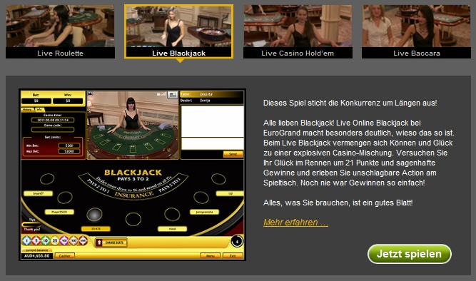 online casino black jack münzwert bestimmen