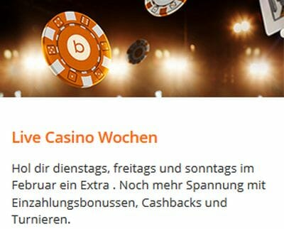 betsson live casino bonus
