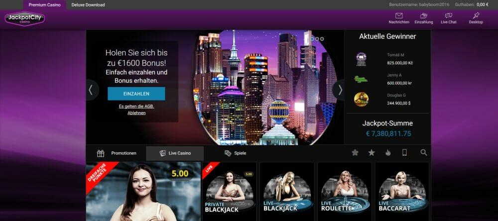 Jackpot City Live Casino Vorschau