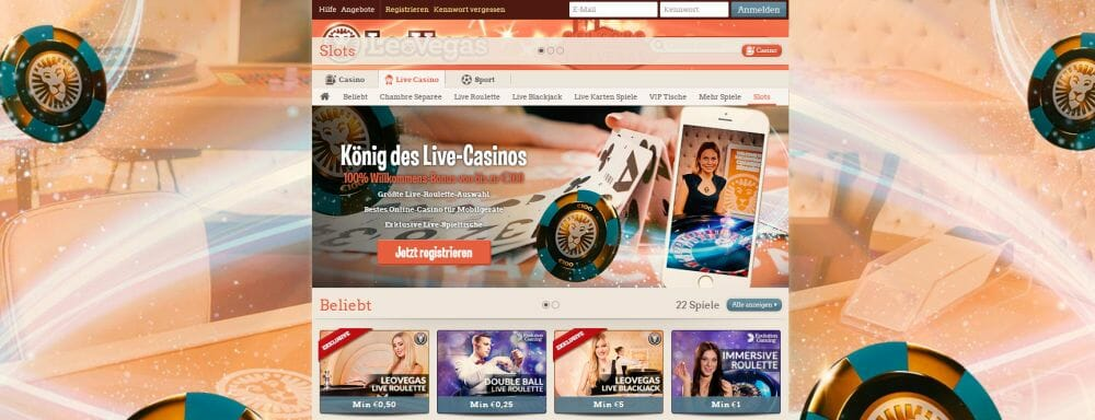 start online casino live casino deutschland