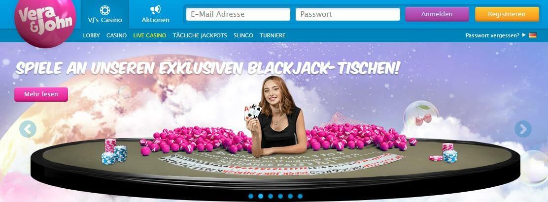 Vera&John Start Live Casino
