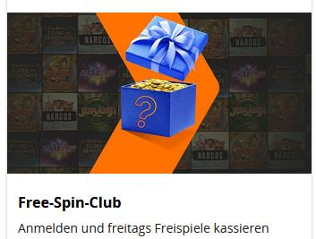 Betsson Free Spin Club