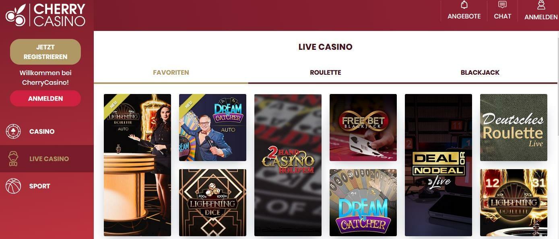 Cherry Live Casino Startseite