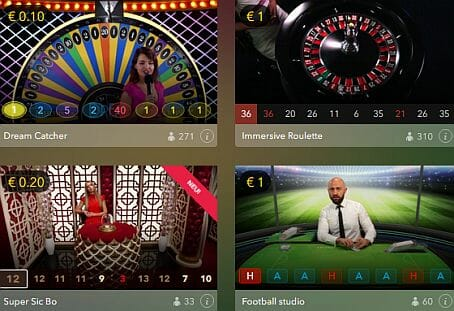 Lucky Days Casino Live Spiele