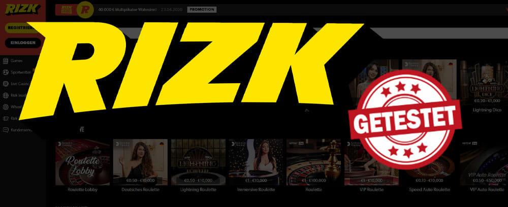 Rizk Live Casino Titelbild