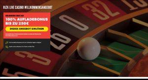 Rizk Vorschau Livecasino Bonus