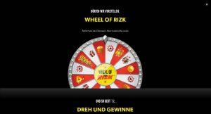 Rizk Vorschau Wheel of Rizk