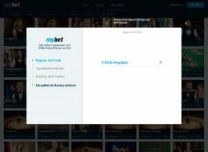 MyBet Livecasino Anmeldung