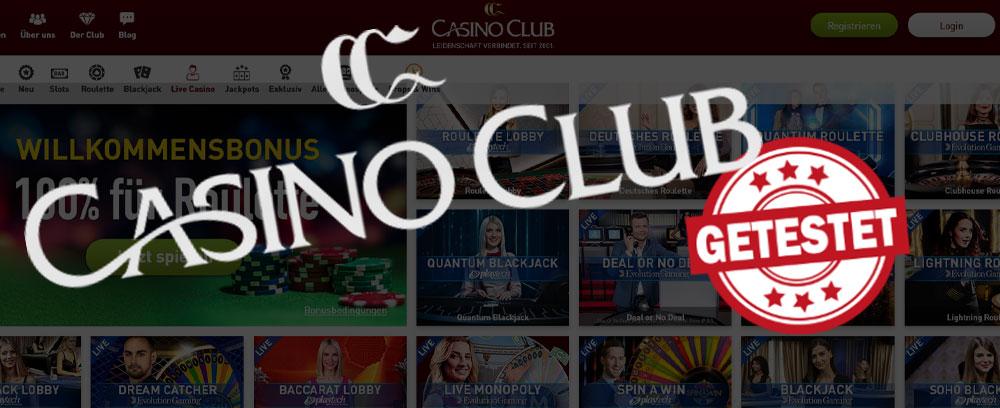 Casino Club Livecasino Titelbild