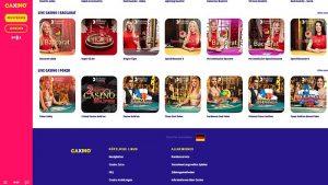 Caxino Casino Live Kartenspiele