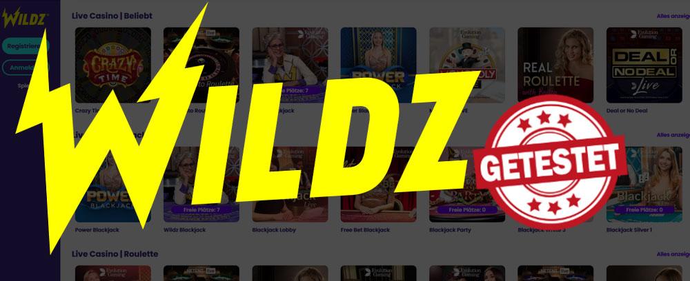 Wildz Live Casino Titelbild